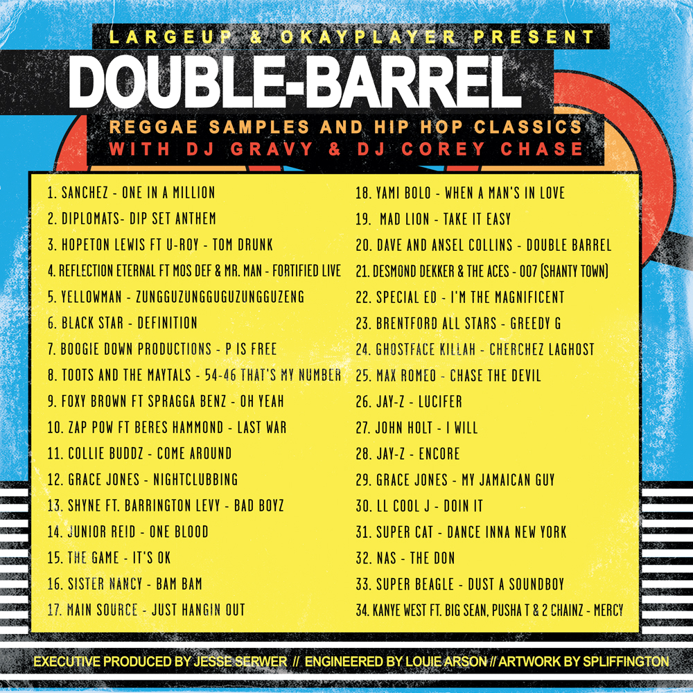Largeup okayplayer double barrel mixtape for Classic house music mixtapes