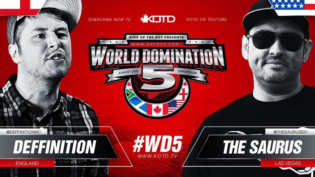 KOTD Rap Battle – Deffinition vs The Saurus