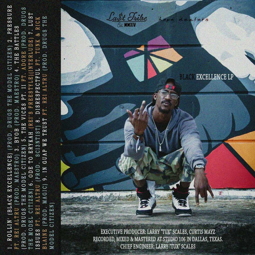 Curtis Mayz - Black Excellence LP (Mixtape) back cover