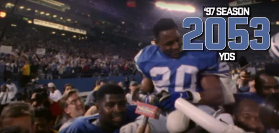 Watch Barry Sanders run for 2000 yards back in 1997