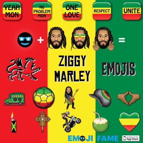 Rastamojis: Ziggy Marley, Grammy-Winning Reggae Star, Releases Set of Custom Emojis In Conjunction With Emoji Fame