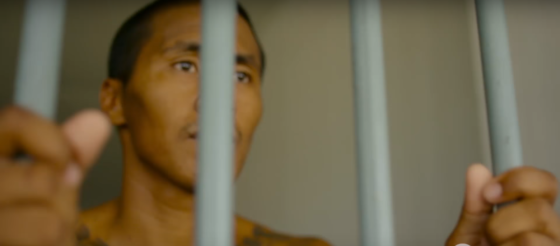 The trailer for 'Prison Fighters' shows real prisoners who fight for early release
