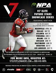 Retired NFL QB Michael Vick Aims to Highlight Talented Youth Athletes in the V7 Elite Playmakers Showcase Series