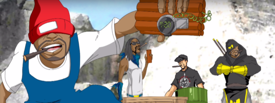 Snoop Dogg enlists Method Man, Redman & B-Real for the animated music video 'Mount Kushmore'