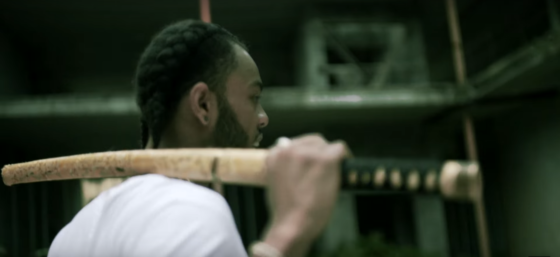 First Lupe Fiasco & Kendrick Lamar with the swords and now Don Mykel in his new video 'Return of the Don'