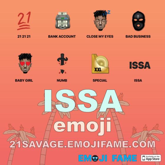 21 Savage links up with Emoji Fame to bring his own set of Emojis