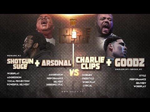 Charlie Clips + Goodz vs Arsonal + Shotgun Suge (Rap Battle)