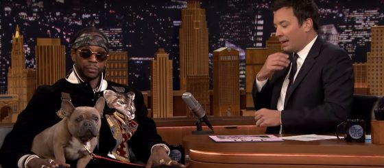 2 Chainz brings his dog Trappy to Jimmy Fallon